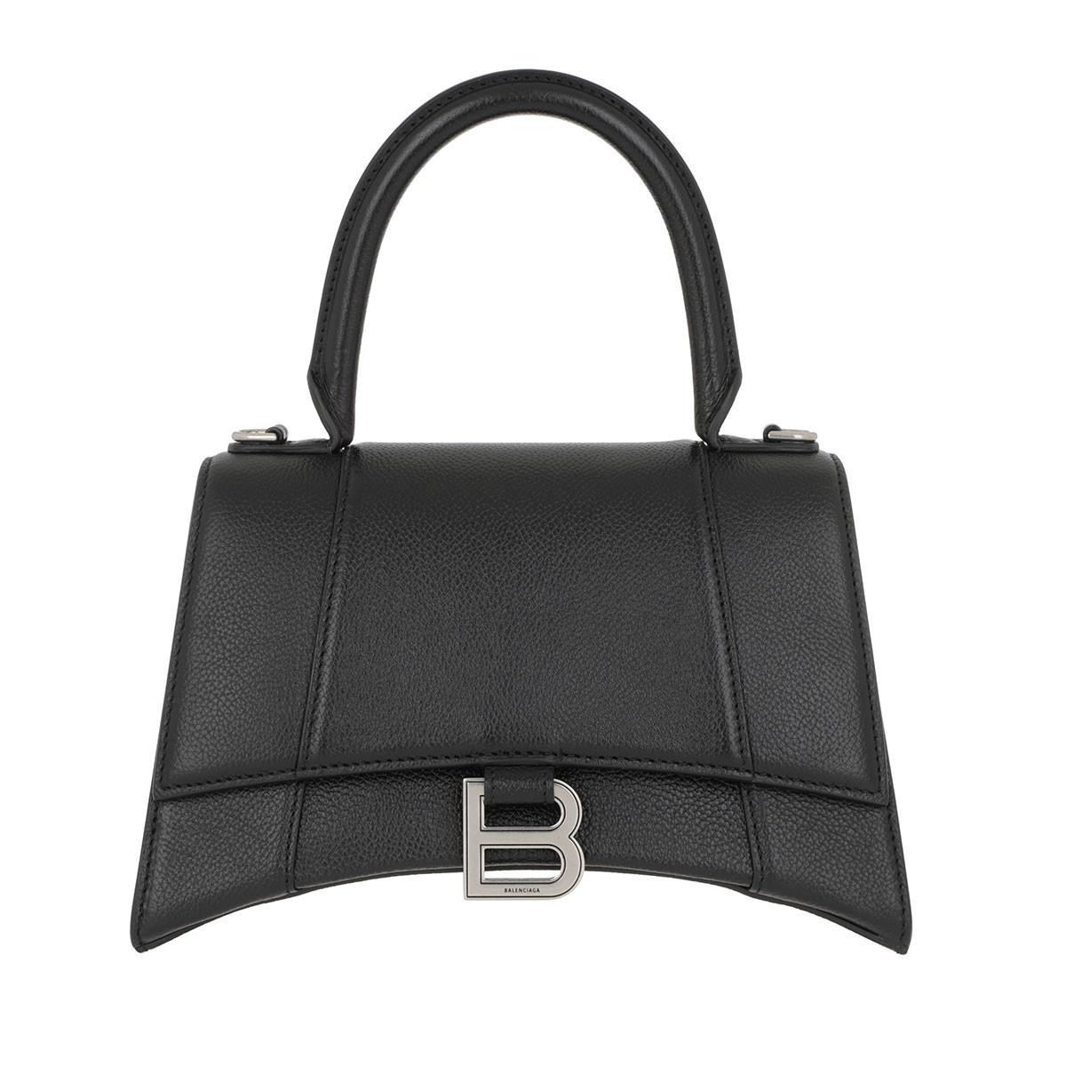Balenciaga Umhängetasche - Hourglass XS Handle Bag Black - in schwarz - für Damen