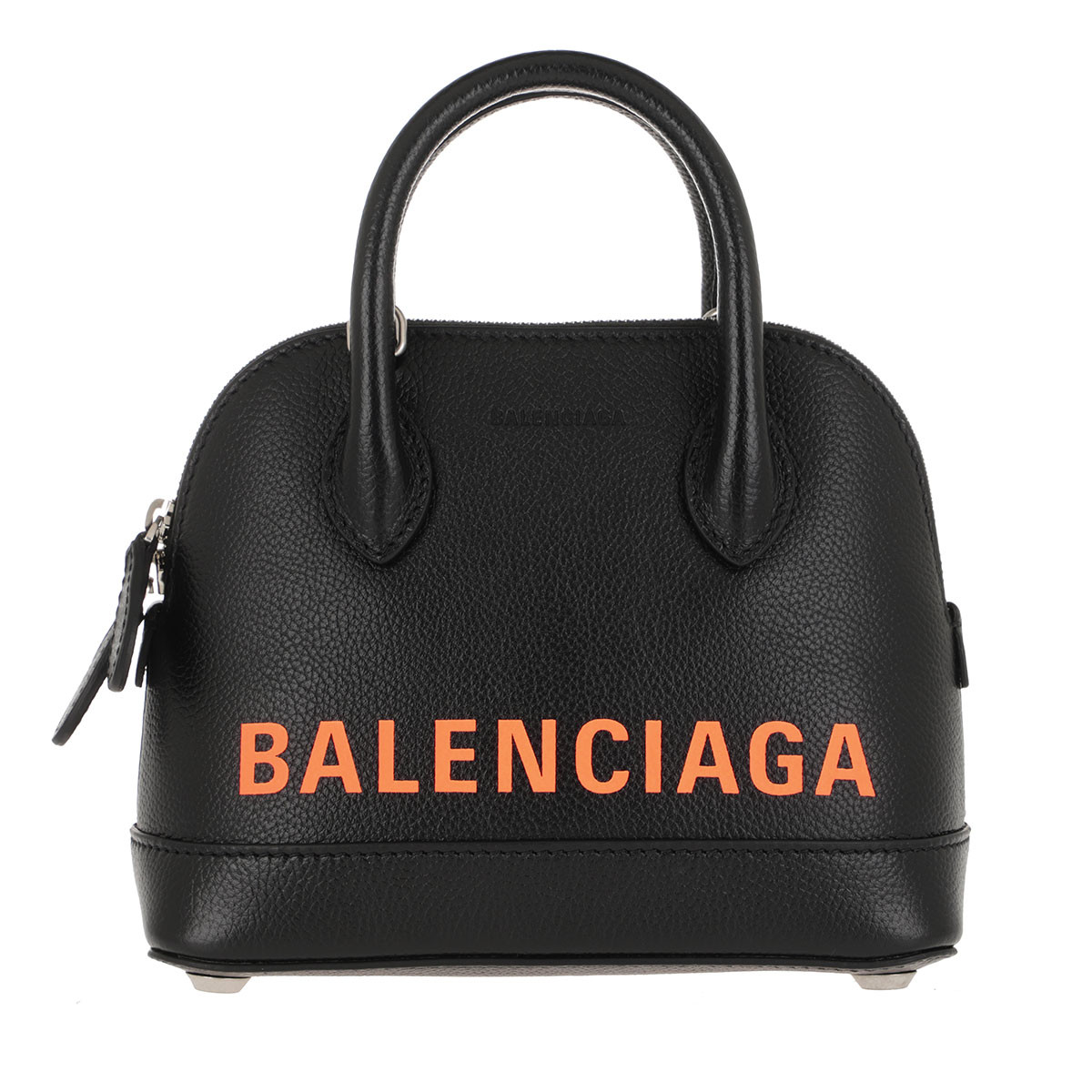 Balenciaga Umhängetasche - Ville XXS Satchel Bag Leather Black/Fluo Orange - in schwarz - für Damen