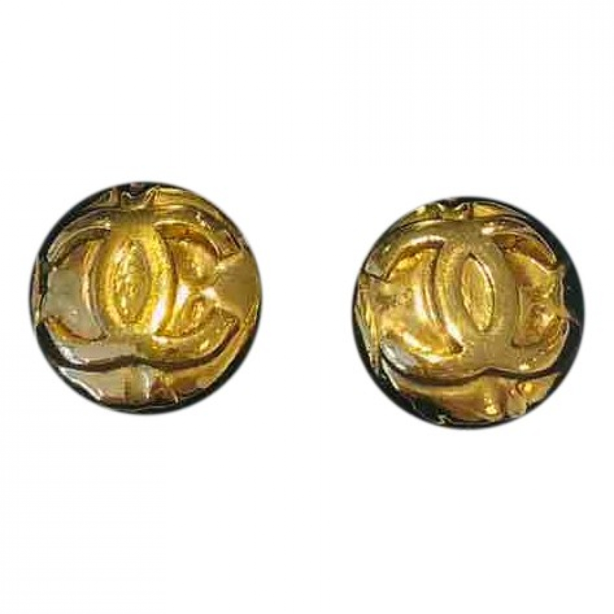Chanel CHANEL Gold Gold plated Earrings for Women N