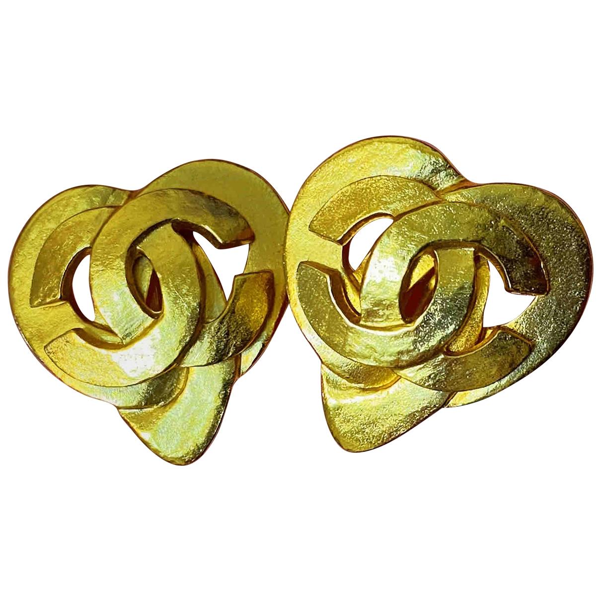 Chanel CHANEL Gold Metal Earrings for Women N