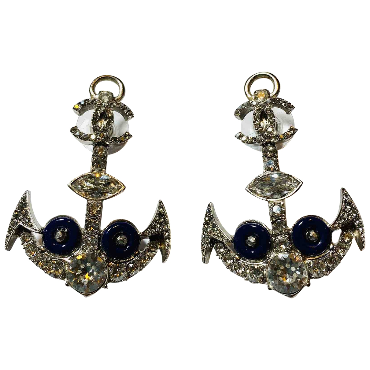 Chanel CHANEL Multicolour Crystal Earrings for Women N