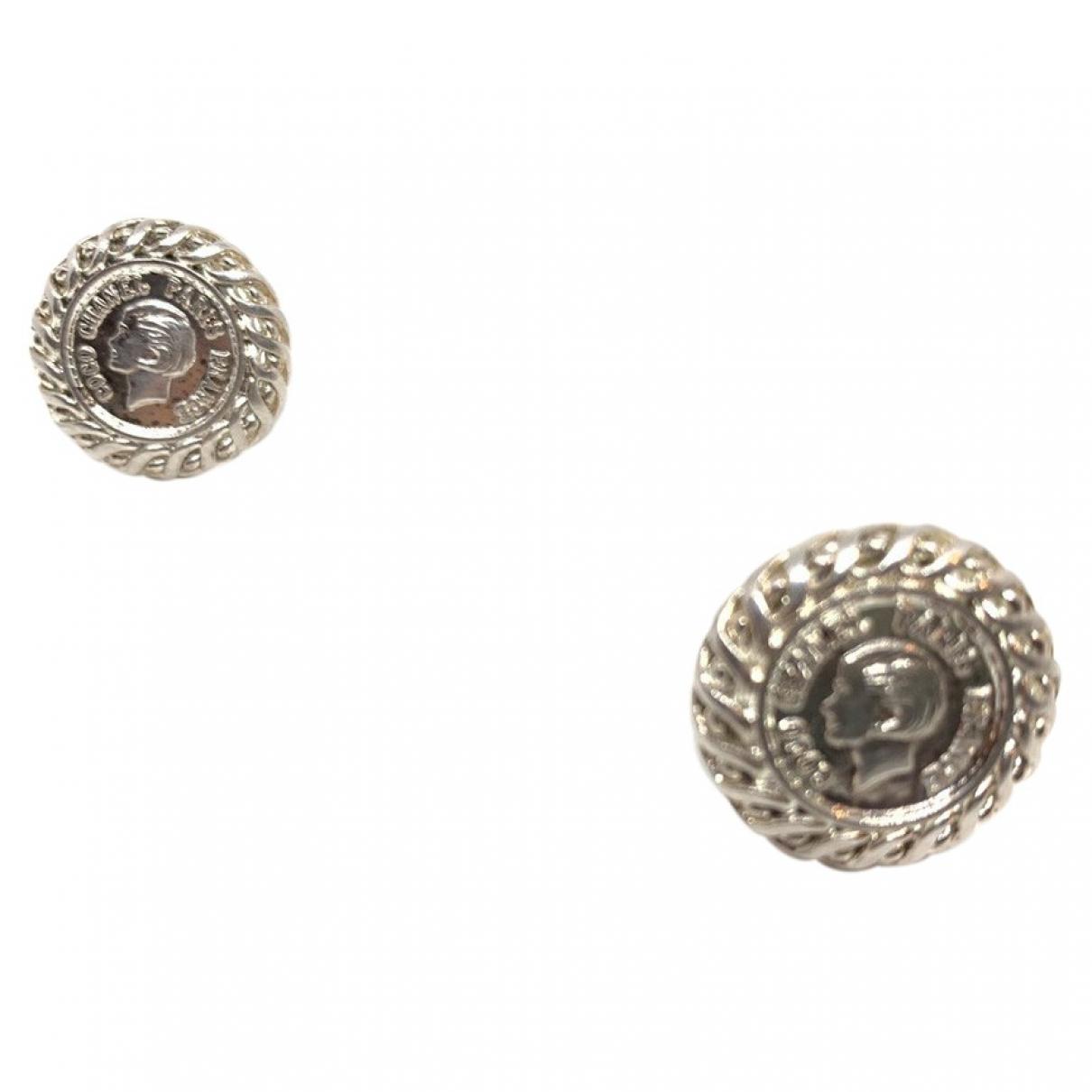 Chanel CHANEL Silver Metal Earrings for Women N