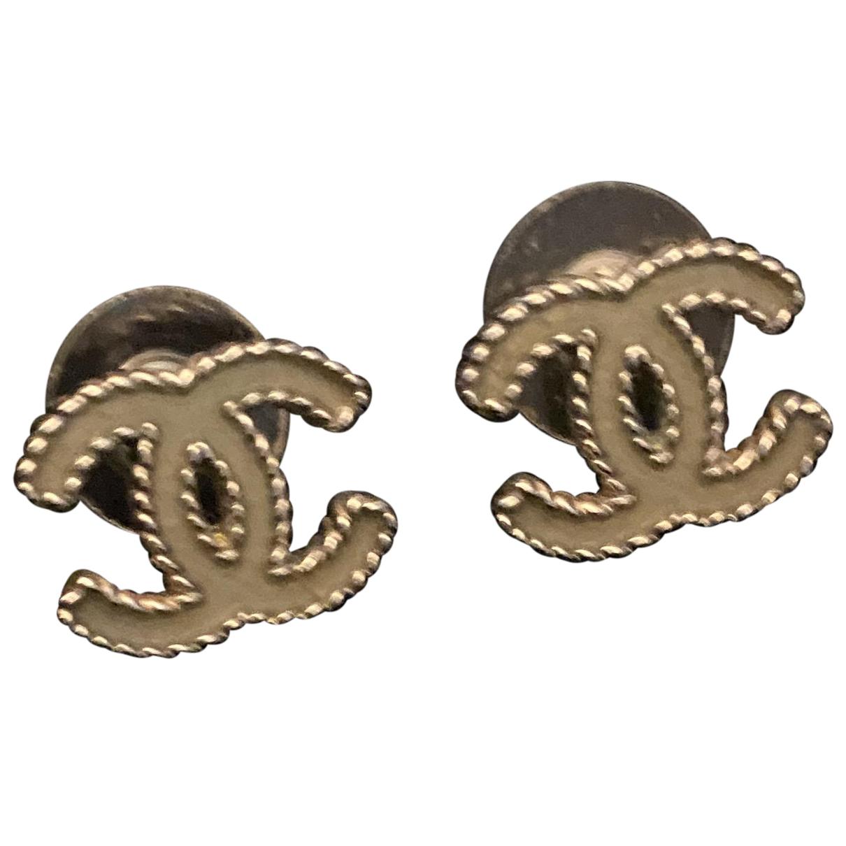Chanel CHANEL Silver Silver Earrings for Women N