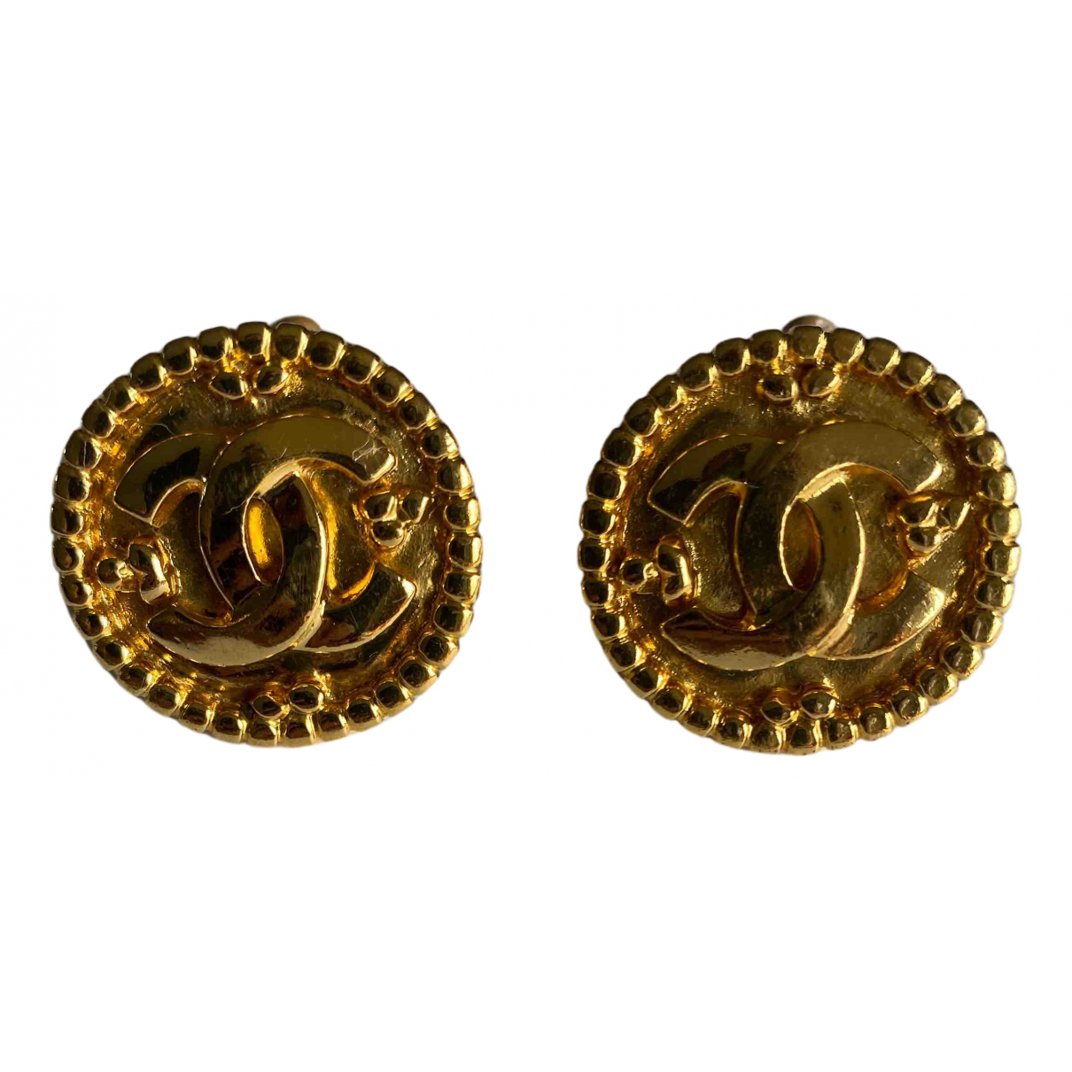 Chanel CHANEL Yellow Gold plated Earrings for Women N