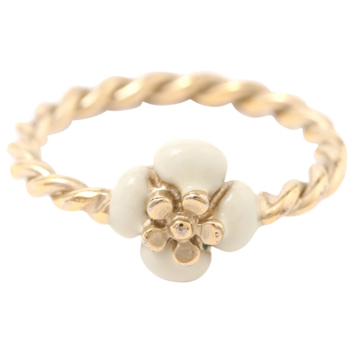 Chanel Camélia Gold Metal ring for Women 52 EU