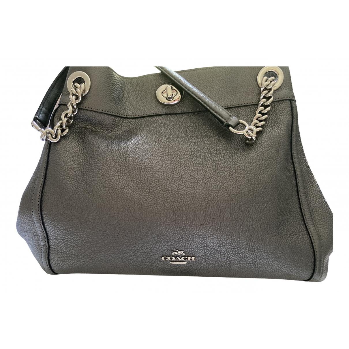 Coach Edie Anthracite Leather handbag for Women N