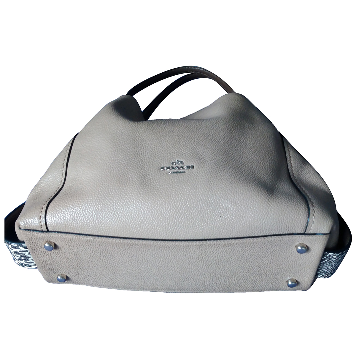 Coach Edie Beige Leather handbag for Women N