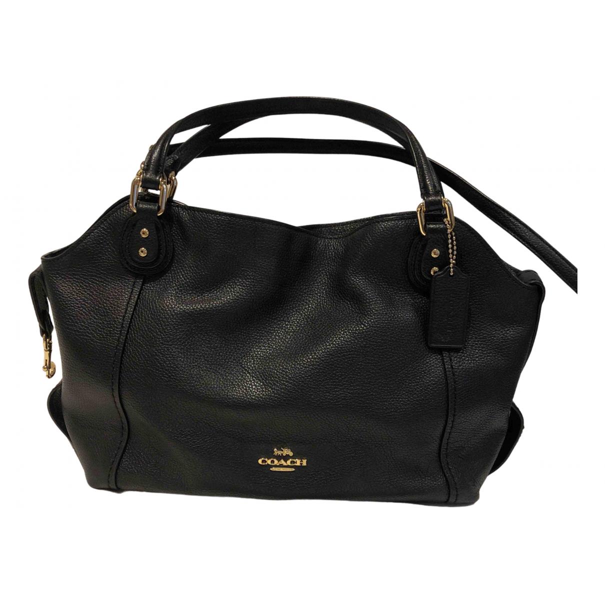 Coach Edie Black Leather Handbags