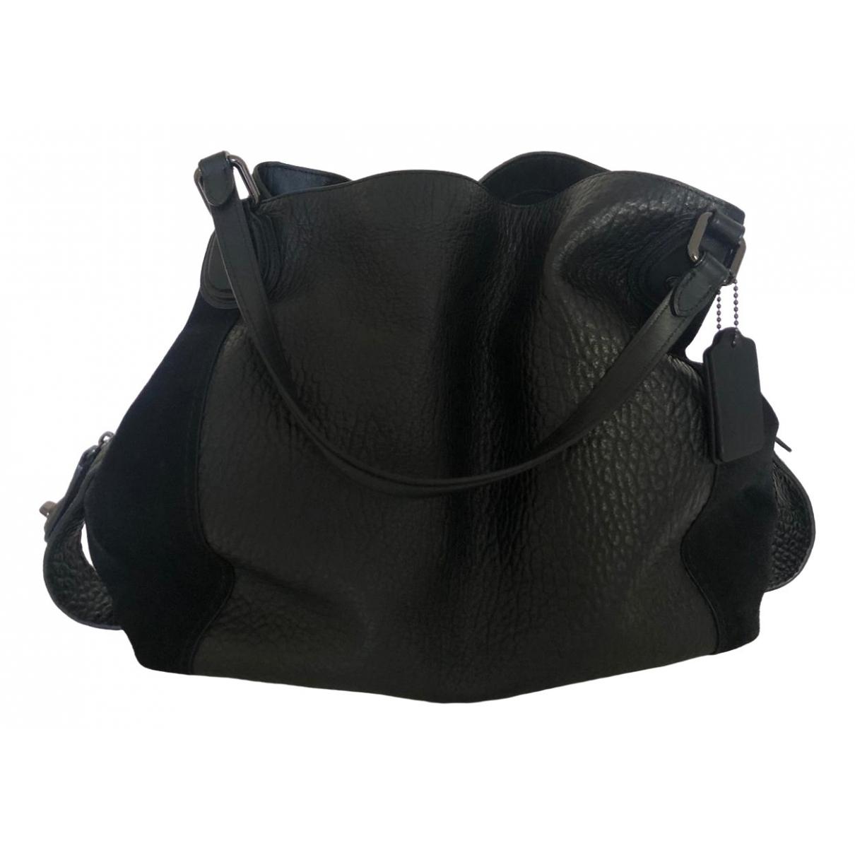 Coach Edie Black Leather handbag for Women N