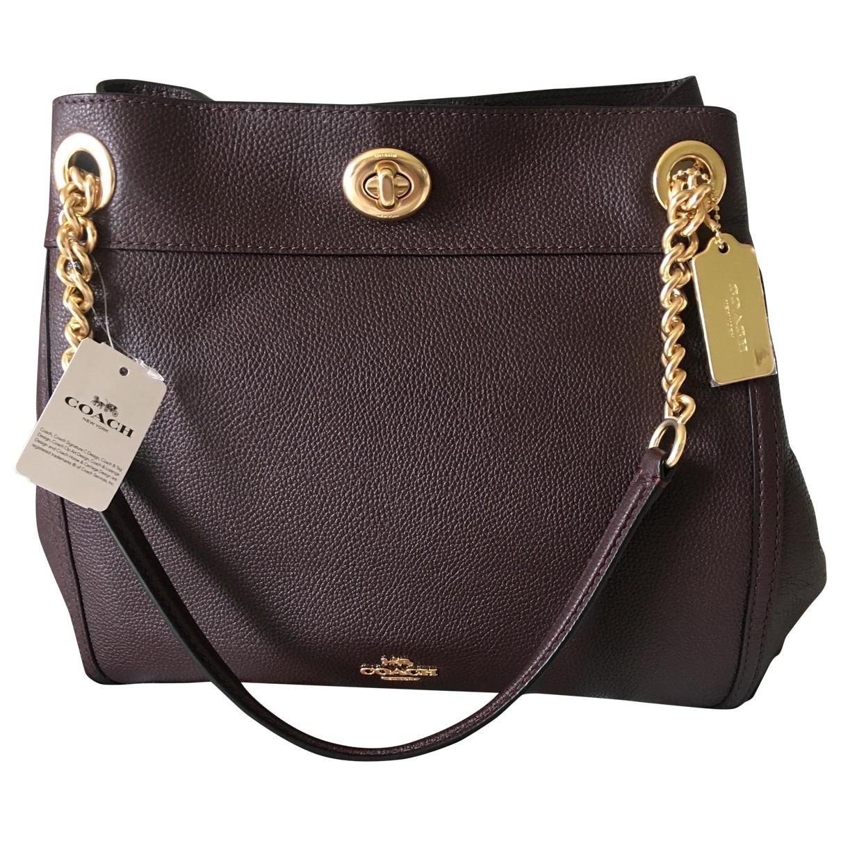 Coach Edie Brown Leather handbag for Women N