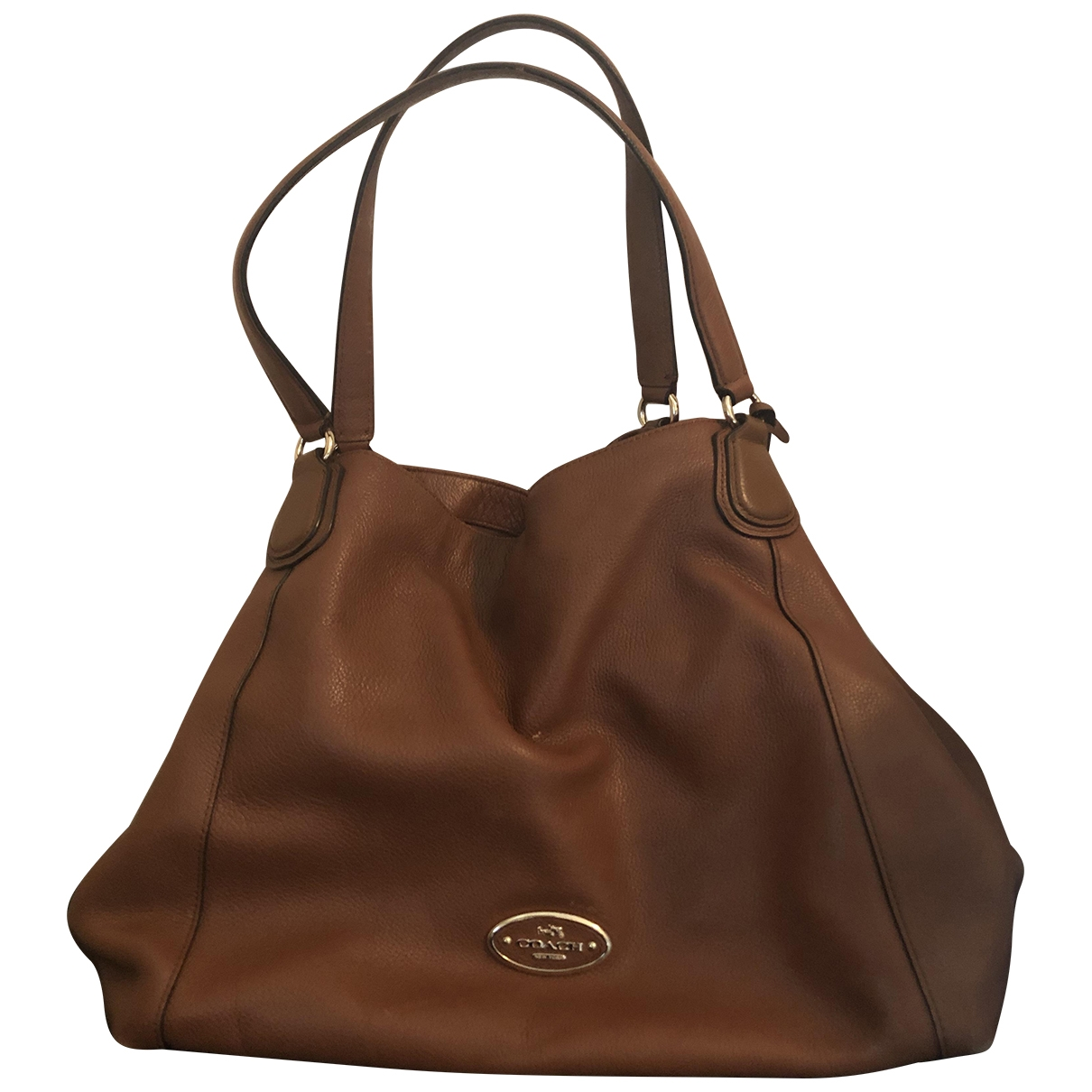 Coach Edie Camel Leather handbag for Women N