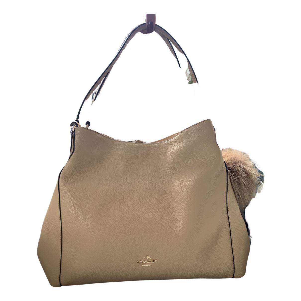 Coach Edie Ecru Leather Handbags
