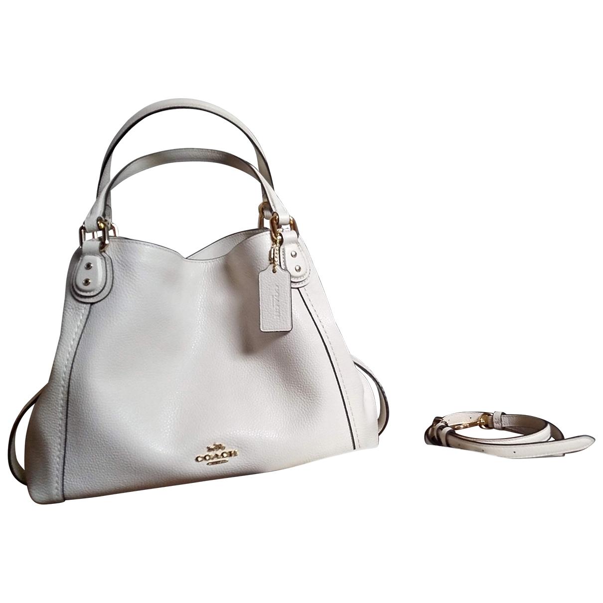 Coach Edie Ecru Leather handbag for Women N