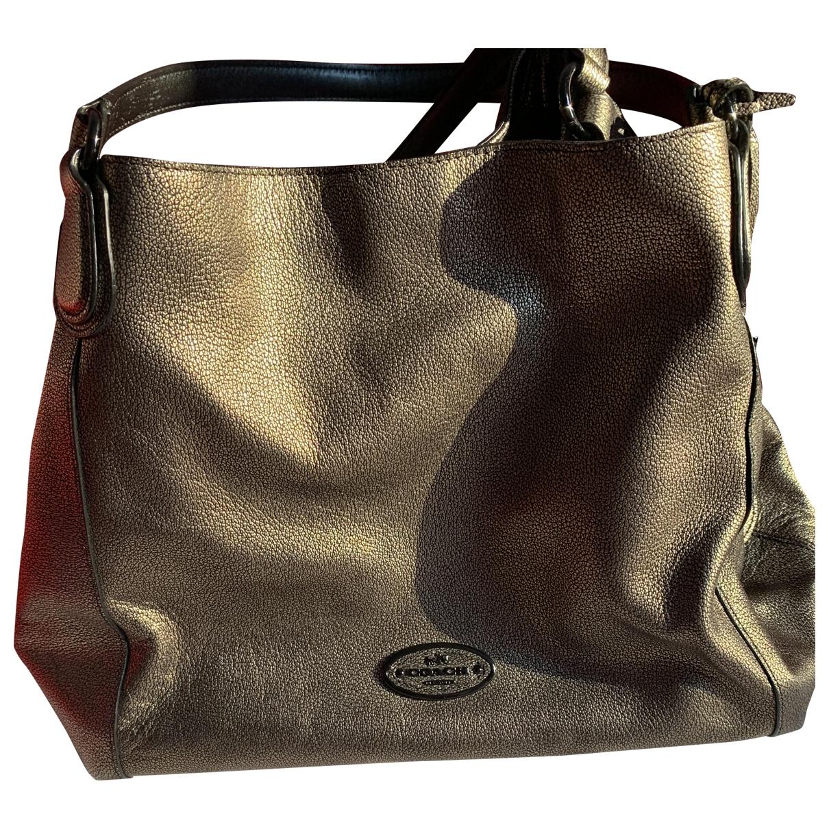 Coach Edie Metallic Leather handbag for Women N