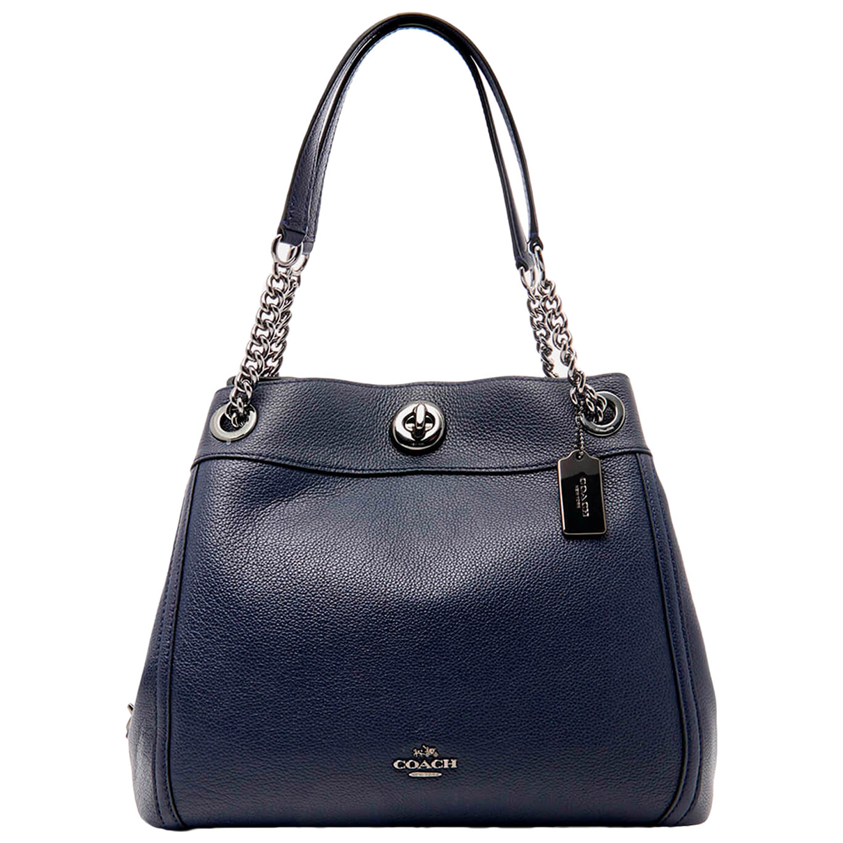 Coach Edie Navy Leather handbag for Women N
