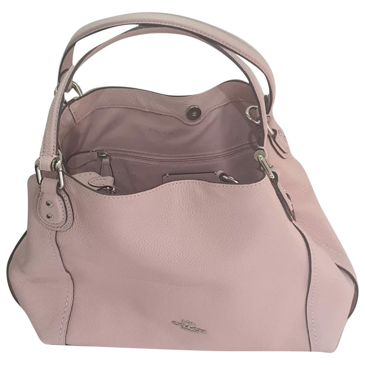 Coach Edie Pink Leather handbag for Women N