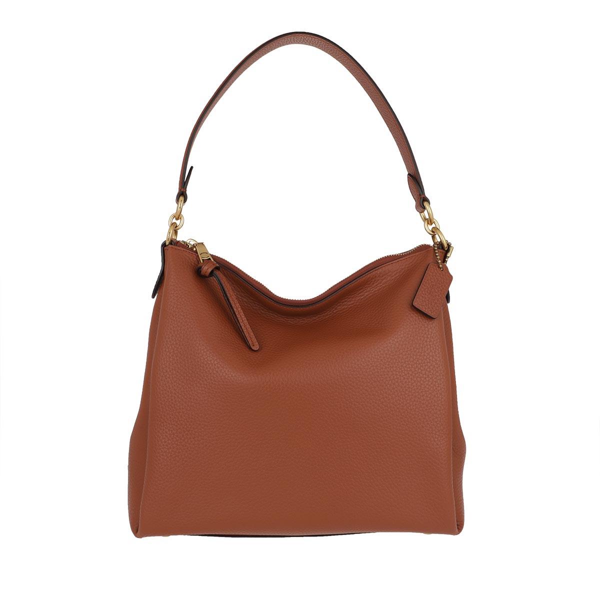 Coach Hobo Bag - Soft Pebble Leather Shay Shoulder Bag 1941 Saddle - in cognac - für Damen