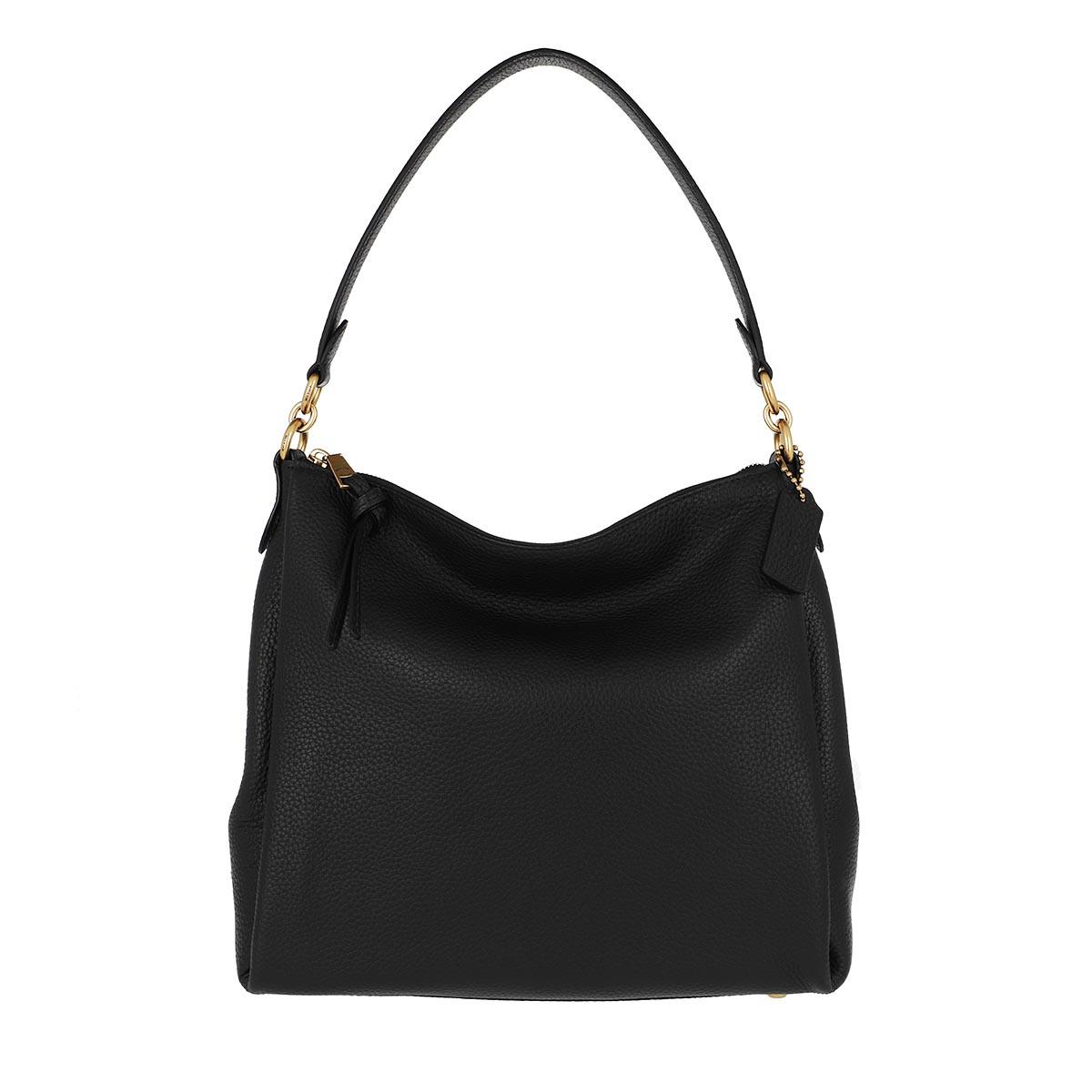 Coach Hobo Bag - Soft Pebble Leather Shay Shoulder Bag Black - in schwarz - für Damen