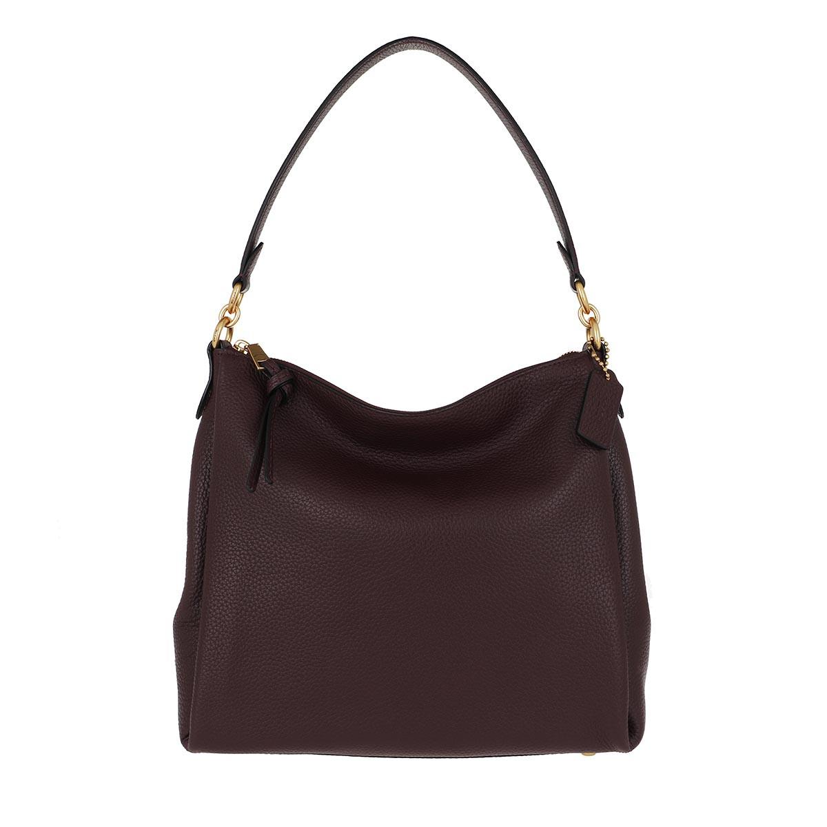 Coach Hobo Bag - Soft Pebble Leather Shay Shoulder Bag Oxblood - in rot - für Damen