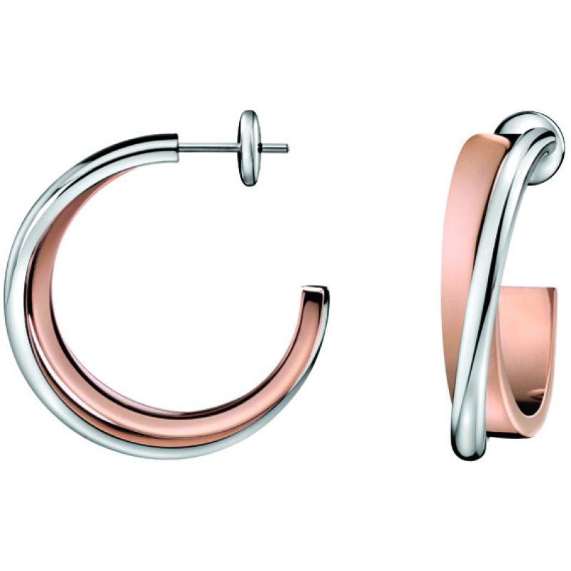 Damen Calvin Klein Coil Ohrringe PVD rosévergoldet KJ63BE010100