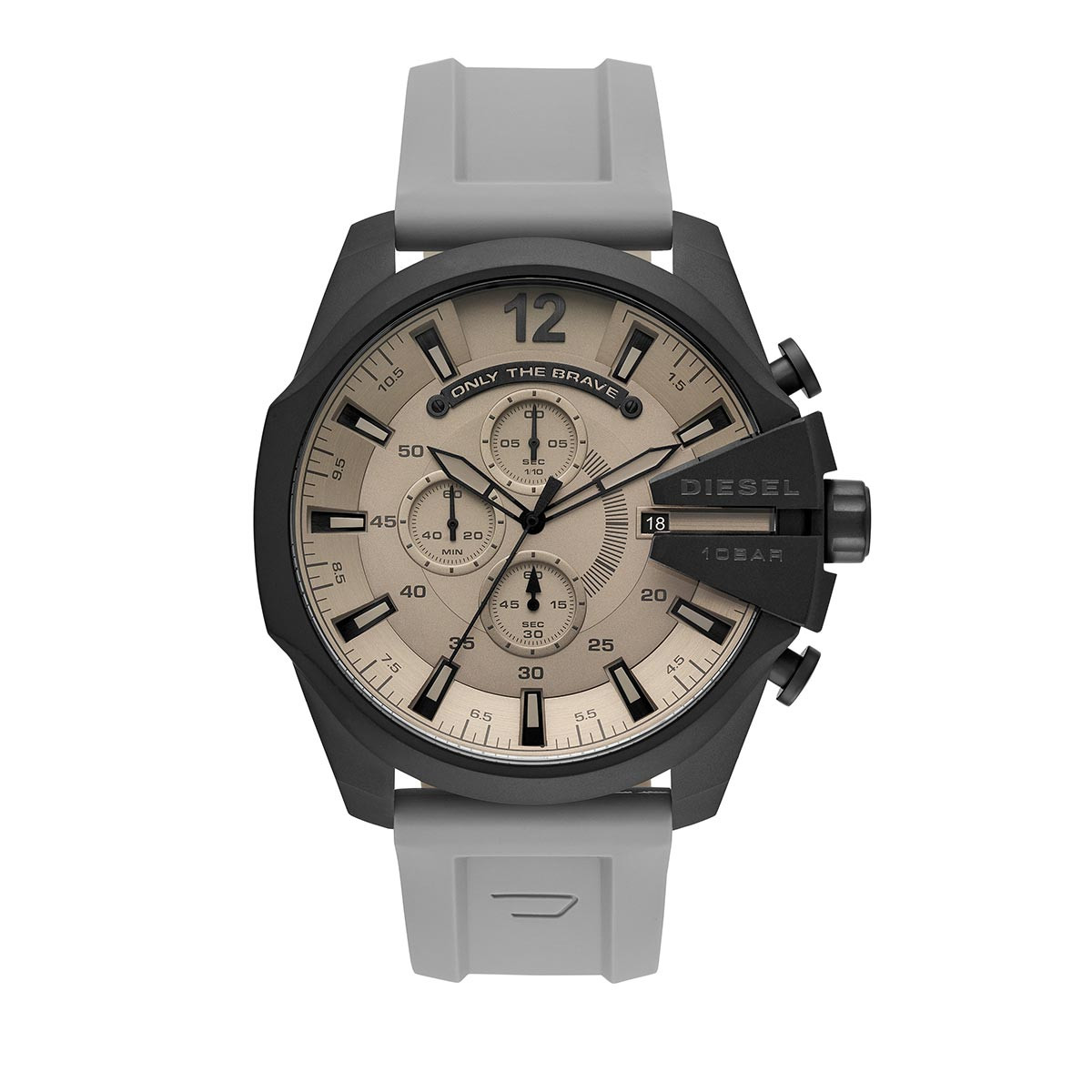 Diesel Uhr - Men's Mega Chief Analog Silicone Watch Grey - in grau - für Damen