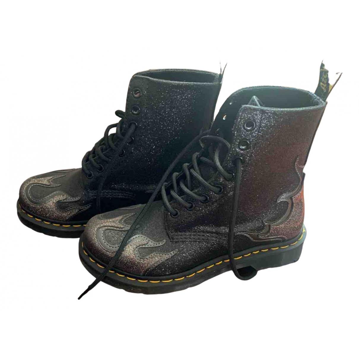 Dr. Martens 1460 Pascal (8 eye) Black Glitter Boots for Women 37 EU