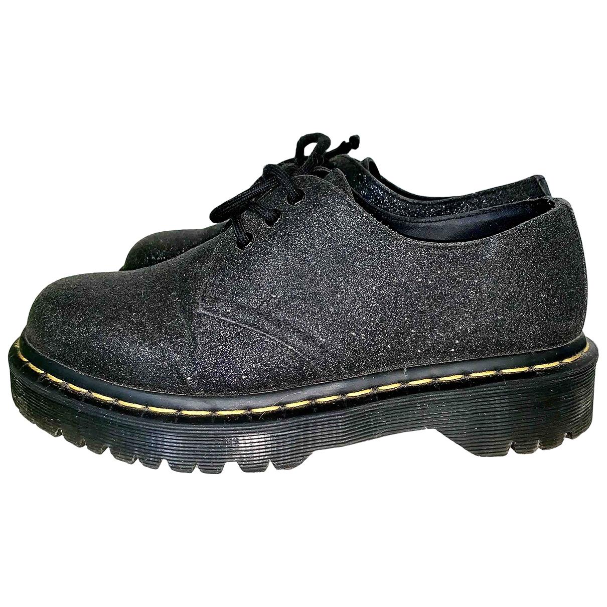 Dr. Martens N Black Glitter Flats for Women 37 EU