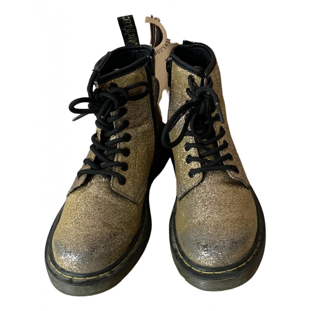 Dr. Martens N Gold Glitter Boots for Kids 30 FR
