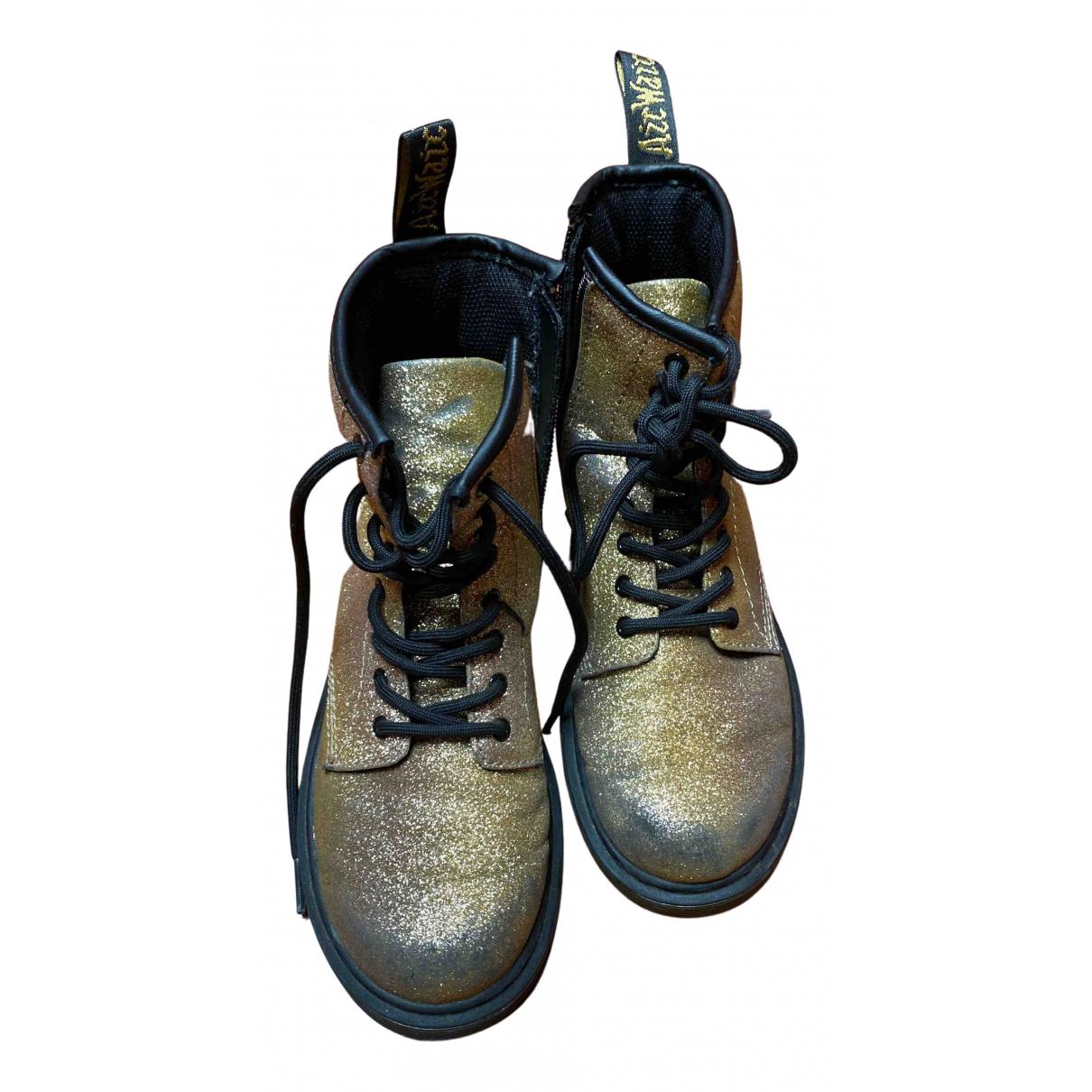 Dr. Martens N Gold Glitter Boots for Kids 35 FR