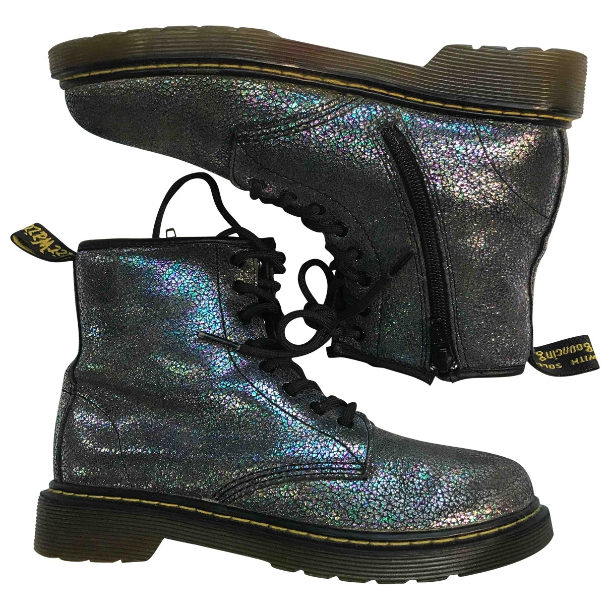 Dr. Martens N Grey Glitter Ankle boots for Women 35 EU