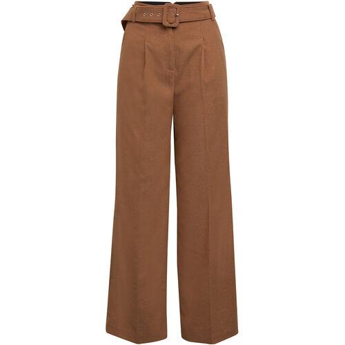 Esprit Collection Cullotte, breiter Gürtel, Bügelfalte, für Damen, camel, 38/L32