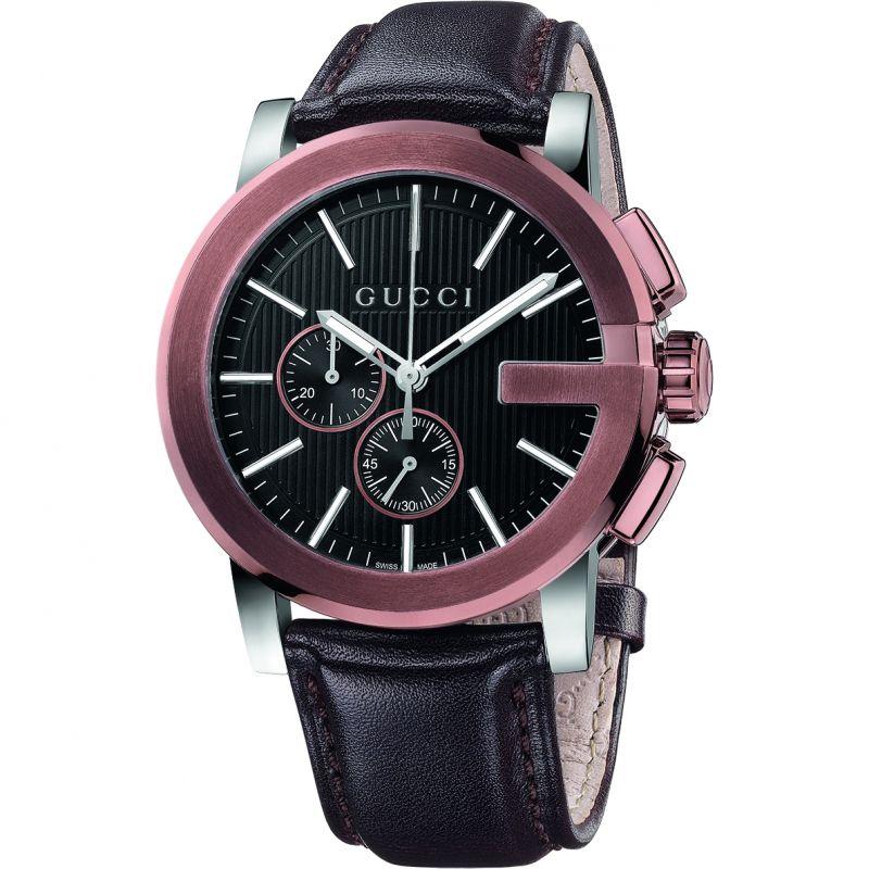 Gucci G-Chrono Herrenchronograph in Braun YA101202