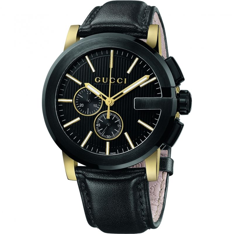Gucci G-Chrono Herrenchronograph in Schwarz YA101203