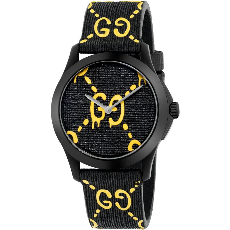 Gucci G-Timeless Gucci Ghost Unisexuhr in Schwarz YA1264019