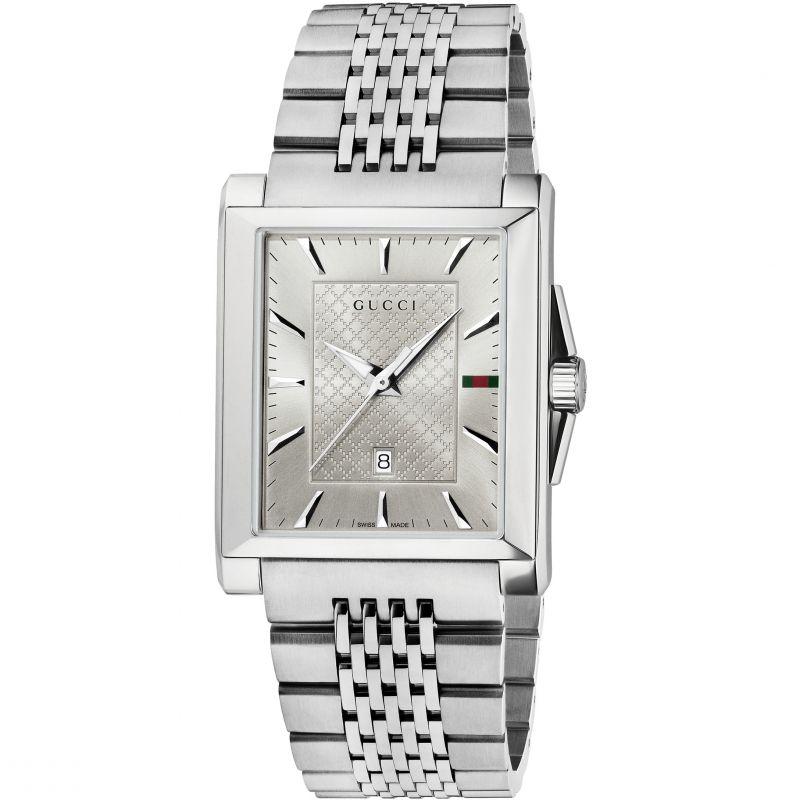 Gucci G-Timeless Rectangle Herrenuhr in Silber YA138403