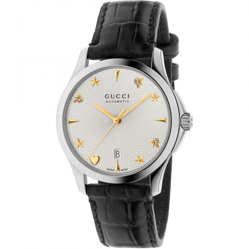 Gucci G-Timeless Unisexuhr in Schwarz YA126468