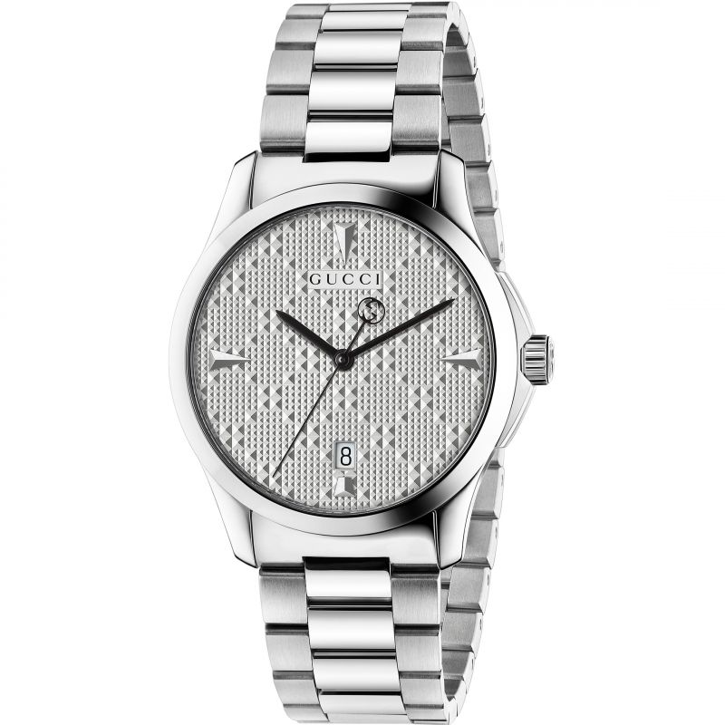 Gucci G-Timeless Unisexuhr in Silber YA1264024