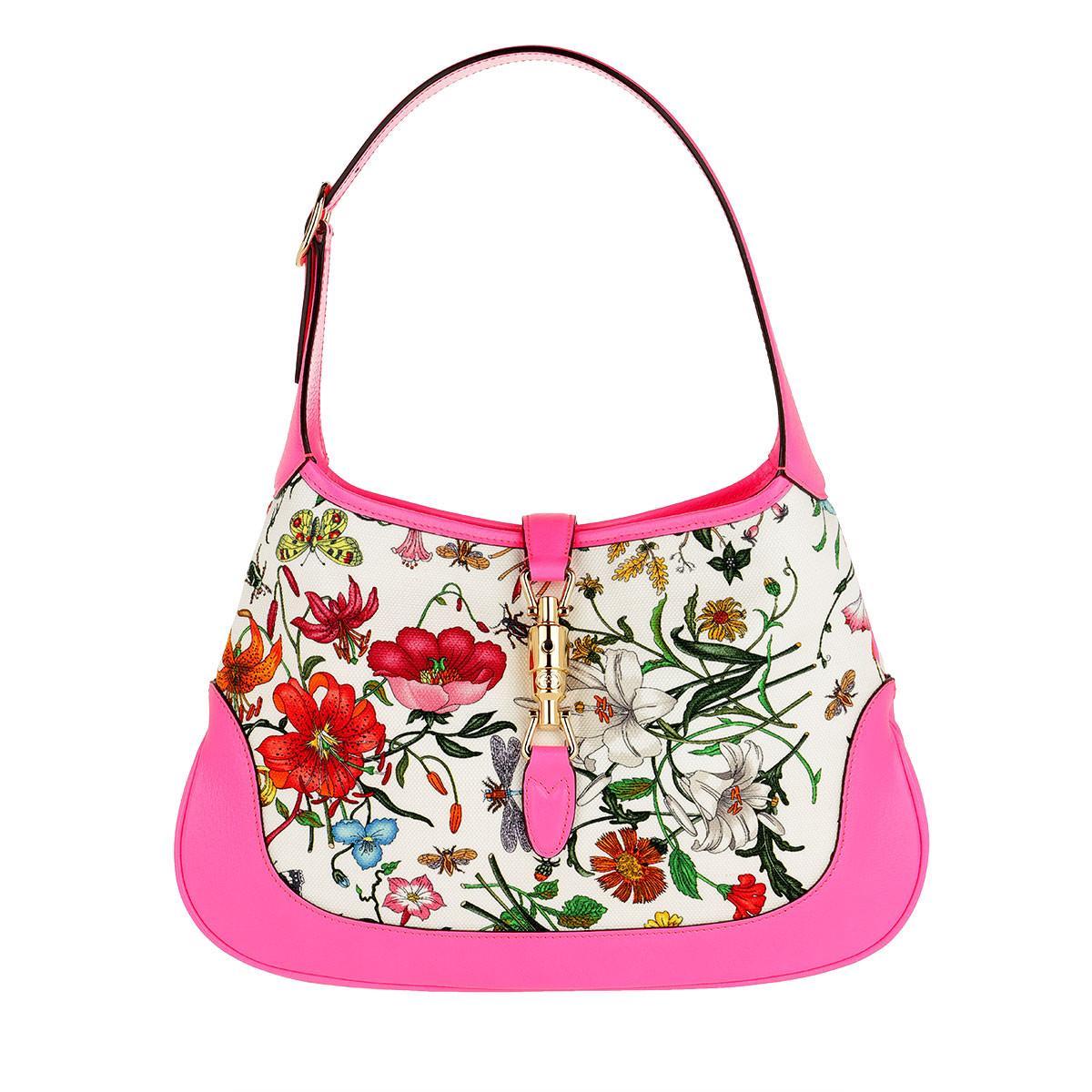 Gucci Hobo Bag - Jackie Medium Flora Hobo Bag Fuchsia - in bunt - für Damen