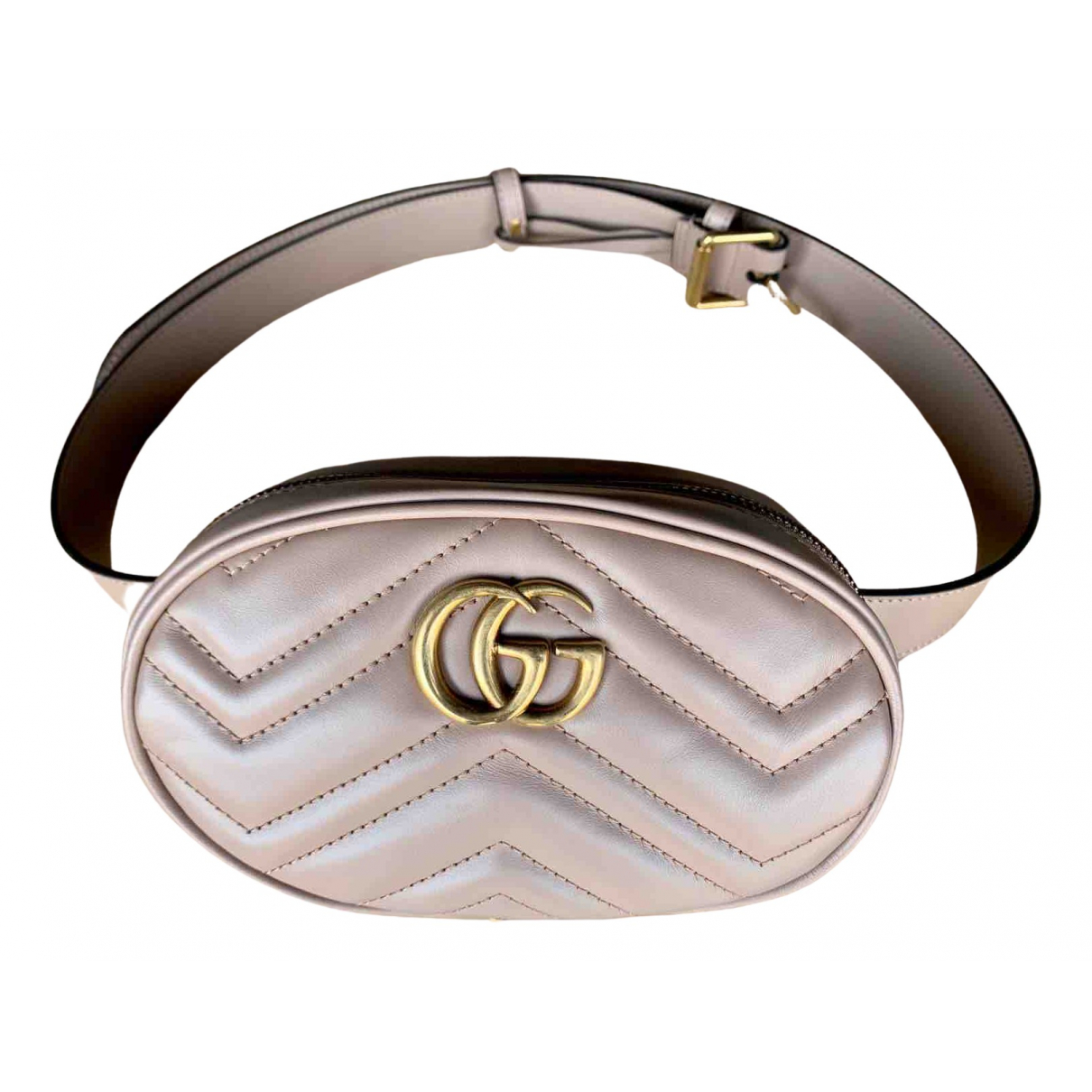 Gucci Marmont Beige Leather Clutch bag for Women N