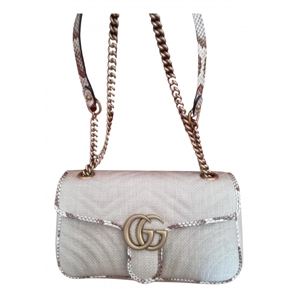 Gucci Marmont Beige Wicker handbag for Women N