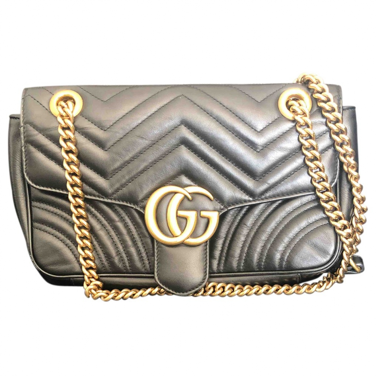 Gucci Marmont Black Leather handbag for Women N