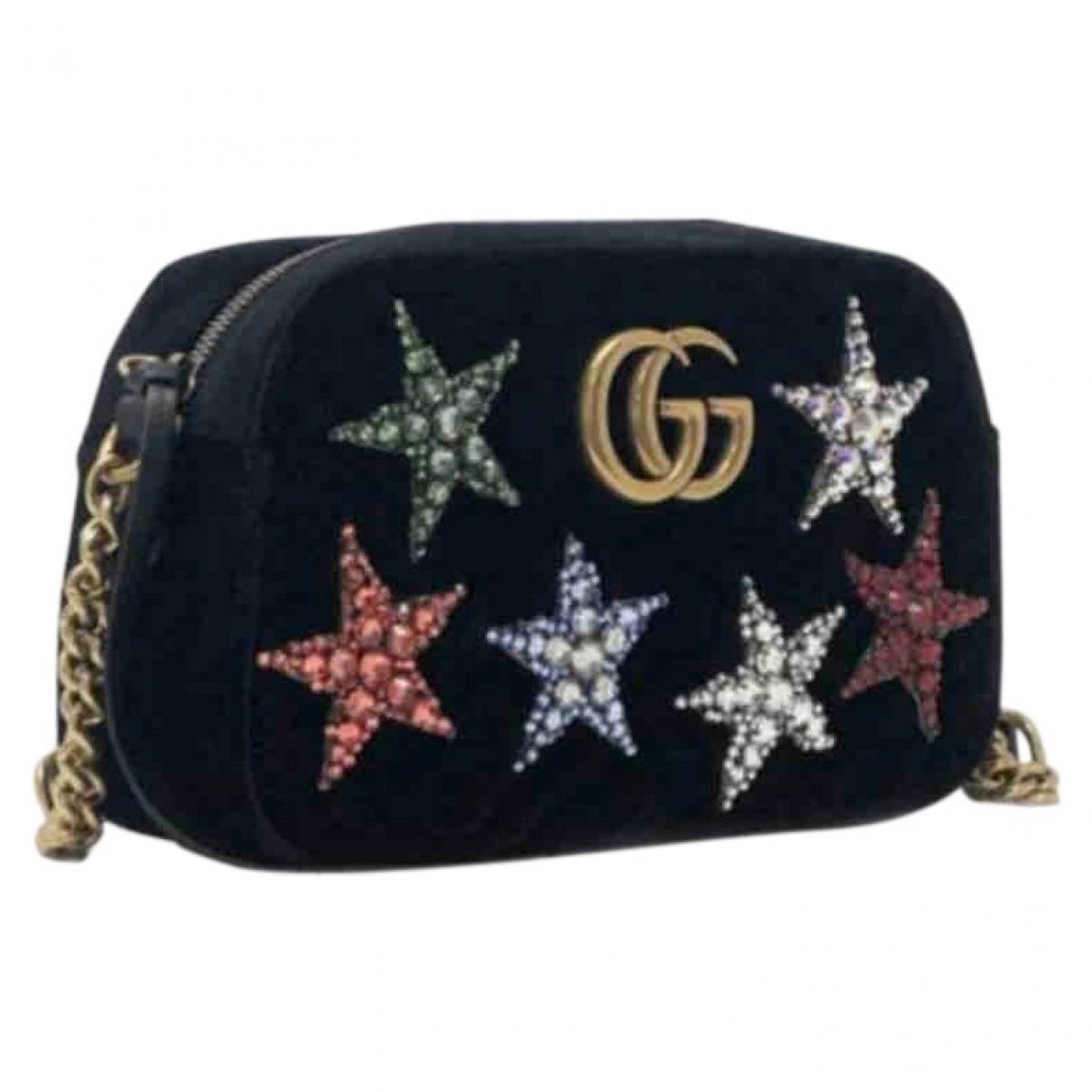 Gucci Marmont Black Suede handbag for Women N