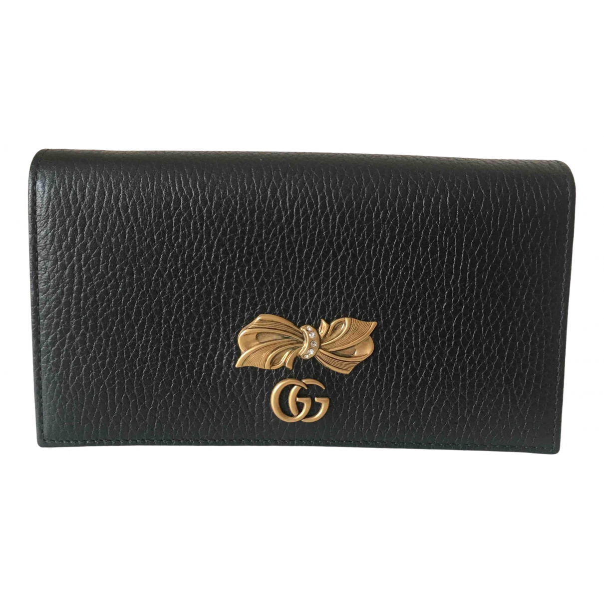 Gucci Marmont Brown Leather Clutch bag for Women N