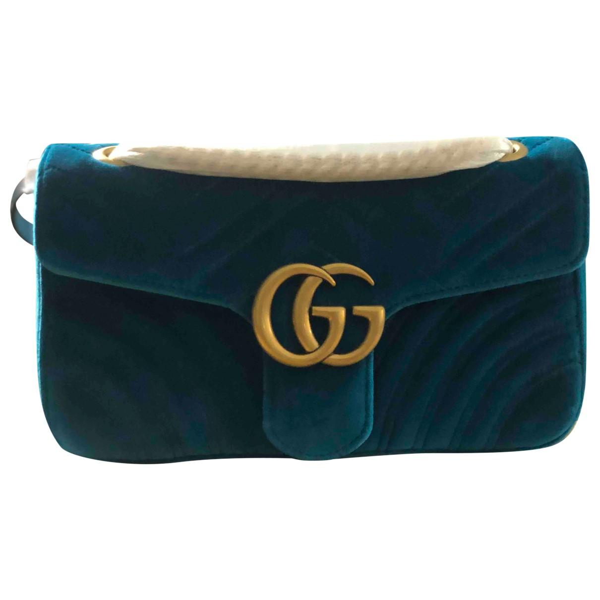 Gucci Marmont Green Velvet handbag for Women N