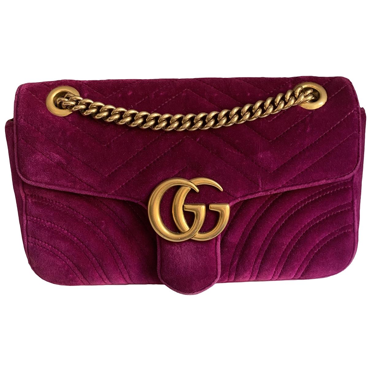 Gucci Marmont Purple Velvet handbag for Women N