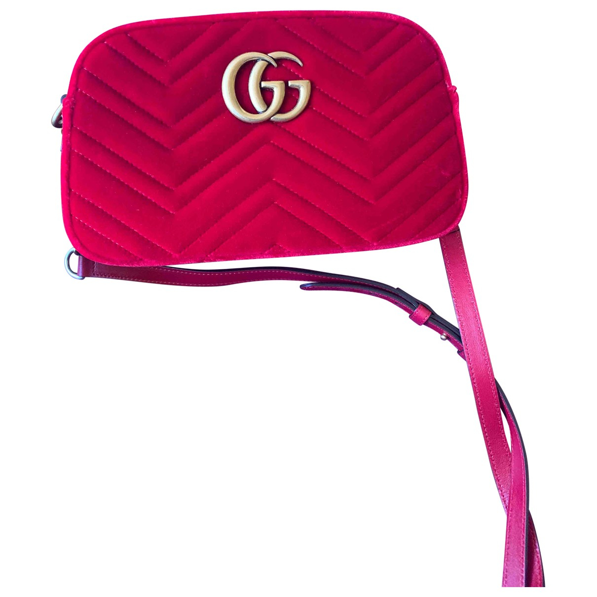 Gucci Marmont Red Suede handbag for Women N