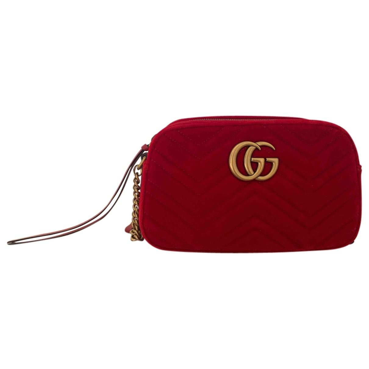 Gucci Marmont Red Velvet handbag for Women N