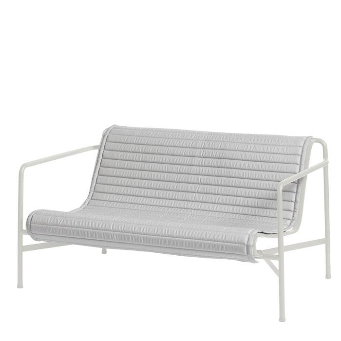 Hay Sitzauflage gesteppt für Palissade Lounge Sofa Hellgrau