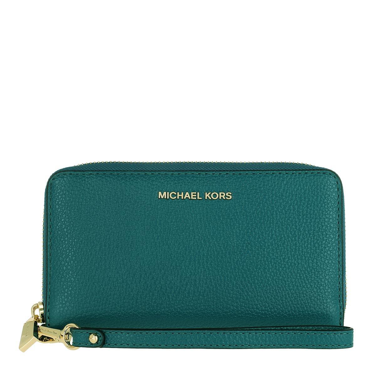 Michael Kors Portemonnaie - Large Flat Multifunction Phone Case Dark Cyan - in grün - für Damen