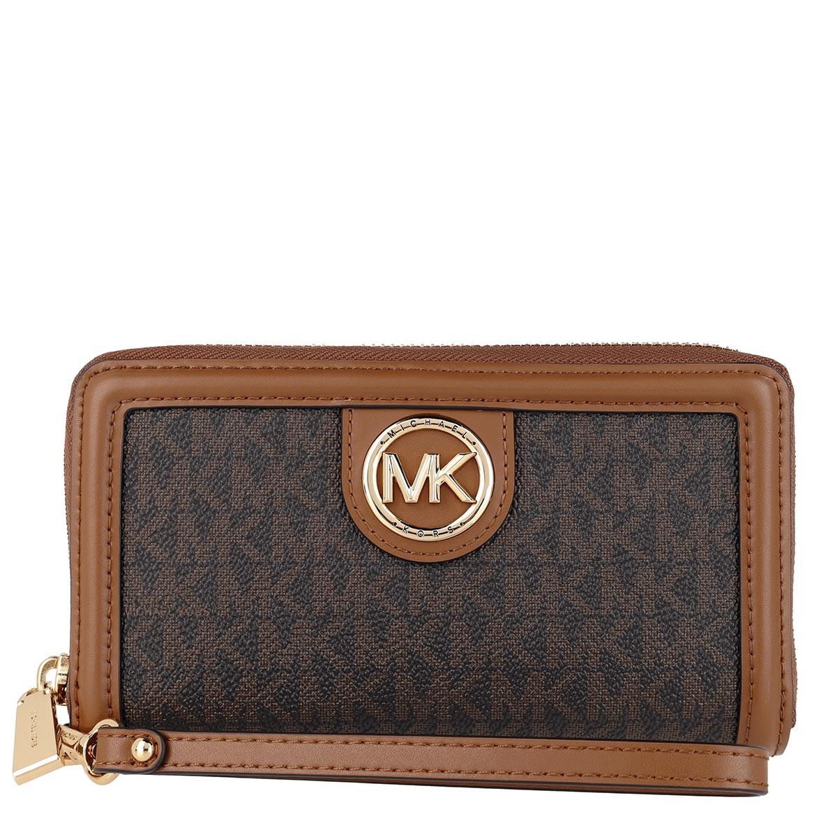 Michael Kors Portemonnaie - Large Flat Phone Case Brown/Acorn - in braun - für Damen